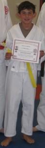 and Josh Earns his Yellow Belt at Dojo Santa Clarita (08/26/09)