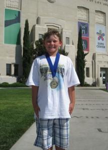 Noah Wins a Gold Medal at the LA Coliseum (08/29/09)