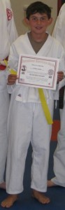and Josh Earns his Yellow Belt at Dojo Santa Clarita (08/26/09)