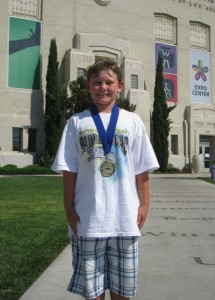 Noah Wins a Gold Medal at the LA Coliseum (08/29/09)